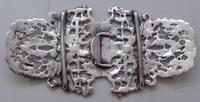 1895 Julius Louis Rosenthal London Hallmarked Solid Silver Nurses Belt Buckle (5 of 7)