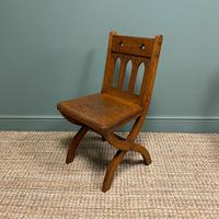 Quality Pair of Oak Hall Chairs by Shoolbred (7 of 7)