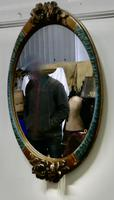 Large Mirror in Oval Ormolu Frame (2 of 6)