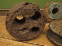 Antique Maritime Ship Deadeye Rigging Blocks & Scupper Ports, Old Wreck Salvage (9 of 13)