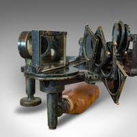 Antique Maritime Sextant, Brass, Admiralty, Naval, Instrument, Victorian c.1900 (2 of 12)