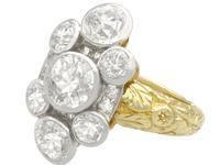 3.54ct Diamond & 18ct Yellow Gold Cluster Ring (3 of 9)