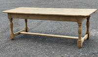 Large French Bleached Oak Farmhouse Table with Extensions (5 of 26)