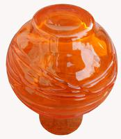 An Orange Strap Vase by James Powell & Sons (4 of 5)