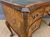 Good Queen Anne Style Burr Walnut Writing Desk (17 of 18)