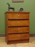 Small Vintage Haberdashery Chest of Drawers, Post Office Chest with Numbers (4 of 18)