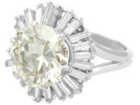 8.24ct Diamond & Platinum Ring by Boucheron - Vintage c.1950 (4 of 13)
