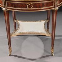 Exceptional Gervais Durand 19th Century Mahogany & Gilt Bronze Gueridon Bouillotte Table (16 of 17)