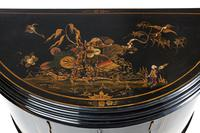 Chinoiserie Demi Lune 2 Door Side Cabinet c.1920 (9 of 9)