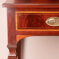 Edwardian Inlaid Mahogany 2 Drawer Side Table (4 of 15)