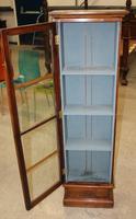 1900s Mahogany One Door Collectors Cabinet (2 of 5)