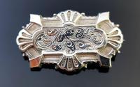 Victorian Silver Demi Parure, Earrings & Brooch (9 of 14)