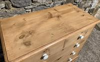 Antique Victorian Stripped Pine Chest of Drawers (7 of 15)