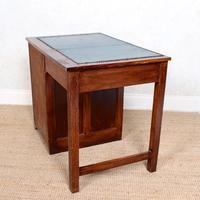 Edwardian Oak Pedestal Writing Desk (7 of 12)