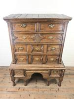 18th Century Antique Oak Chest on Stand (2 of 9)