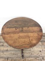 Antique 19th Century Welsh Oak Tilt Top Table (5 of 8)