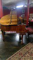 Elegant English Eavestaff Queen Anne Style Grained Walnut Grand Piano with Matching Duet Piano Stool (4 of 8)