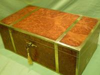 Exceptional FULLY Brass Bound Amboyna Writing Box c.1850 (3 of 15)