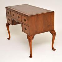 Antique Burr Walnut Leather Top Desk (5 of 10)