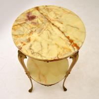 French Style Brass & Onyx Side Table (4 of 6)