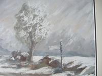 Winter Landscape - Oil on Board - Unsigned (4 of 5)
