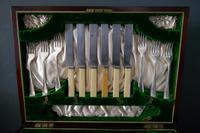 Edwardian Mahogany Cutlery Canteen, James Deakin (9 of 9)