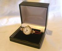 9ct Gold Ladies Wrist Watch 1934 Swiss 15 Jewel Porcelain Dial Red 12 FWO (4 of 12)