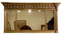 Regency Gilt Framed Over Mantel Mirror (5 of 5)