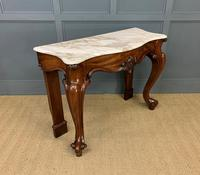 Victorian Mahogany Marble Topped Console Table (4 of 11)