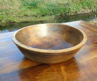Antique Elmwood Hand Adzed Bowl