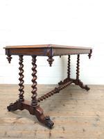 Antique Walnut Table with Barley Twist Legs (8 of 10)