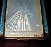 Art Deco Silver & Enamel Matchbook Case (2 of 4)