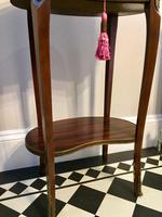 Antique French Kidney Shaped Side Table with Marble Top (4 of 10)