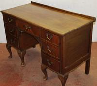 1920s Mahogany Pedestal Desk on Cab Legs. 1 Piece (2 of 4)
