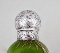 Fabulous Victorian Aesthetic Movement Silver & Opaline Gilt Glass Scent Bottle by Hewett & Co, Birmingham 1884 (7 of 7)