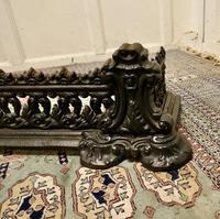 Decorative Victorian Cast Iron Fender (2 of 8)