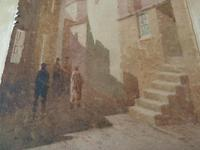 """Arthur White , St Ives School Watercolour """" Village """"  1 of 2 listed. (2 of 3)"""
