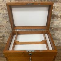 Mahogany Dentist Cabinet with Chrome Handle (3 of 9)