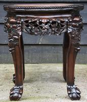 Excellent Quality 19th Century Chinese Rosewood Jardiniere / Plant Stand / Low Table (4 of 7)