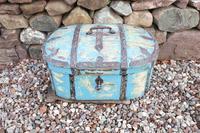 Scandinavian / Swedish 'Folk Art' Travel chest in blue paint and ironwork, 18th Century (33 of 37)