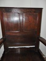 Early Welsh Oak Waincot Chair (3 of 12)