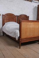 Fabulous Pair of Single Henri II Style Cane & Wood Single Beds (10 of 11)