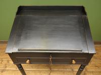 Antique Painted Black Clerks Desk (3 of 17)