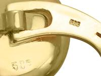 0.25ct Diamond & Crystal, 14ct Yellow Gold & Platinum Cufflink & Stud Set - Antique (7 of 9)
