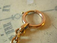 Antique Pocket Watch Chain 1890s Victorian French Large 10ct Rose Gold Filled  Albert (11 of 12)