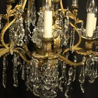 French Gilded Bronze 11 Light Antique Chandelier (3 of 10)