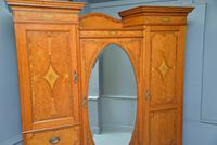 Stunning Victorian Satinwood & Marquetry Compactum Wardrobe (23 of 24)