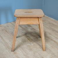 Rustic Ash & Elm Stool (2 of 5)