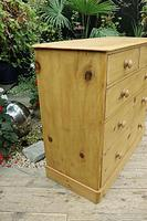 Gorgeous & Large Old Pine Chest of Drawers (4 of 7)