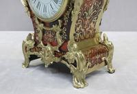 French Louis XV Style Boulle Mantel Clock Retailed by R&C (7 of 9)